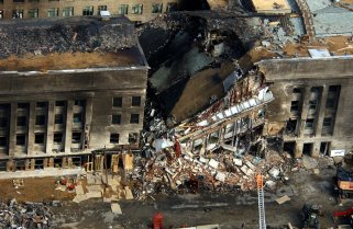 Pentagon damage photo by Tech Sgt Cedric Rudisill