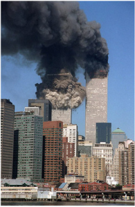 World Trade Center on 9-11. AP Photograph